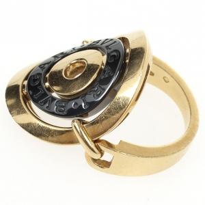 Bvlgari Cerchi 18 K Yellow Gold Ring Size 54.5