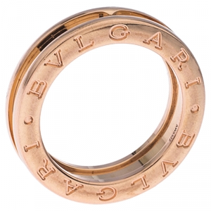 Bvlgari B.Zero1 18K Rose Gold One Band Ring Size 51