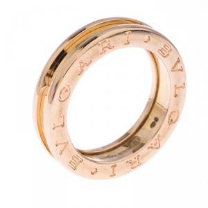 Bvlgari B.Zero 1 18K Rose Gold One Band Ring Size 51