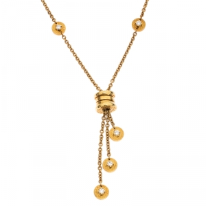 Bvlgari B.Zero1 Diamond 18k Yellow Gold Tassel Necklace