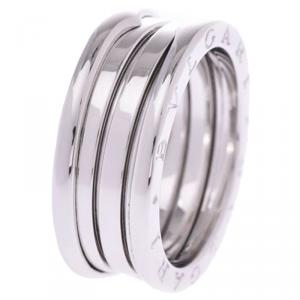 Bvlgari B.Zero1 3-Band 18k White Gold Band Ring Size 59