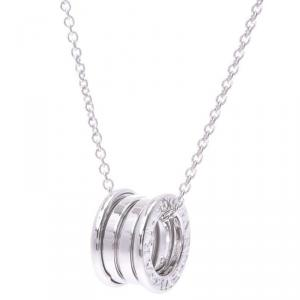 Bvlgari B.Zero1 3-Band 18K White Gold Band Pendant Necklace