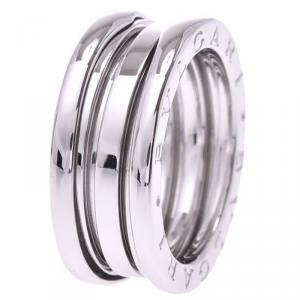 Bvlgari B.Zero1 3-Band 18k White Gold Band Ring Size 52