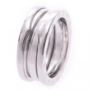 Bvlgari B.Zero1 3-Band 18k White Gold Band Ring Size 53
