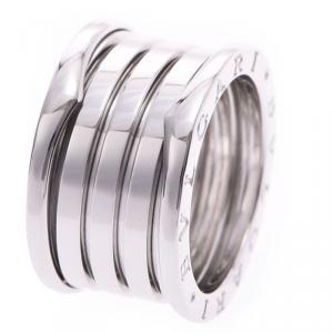 Bvlgari B.Zero1 4-Band 18k White Gold Band Ring Size 55