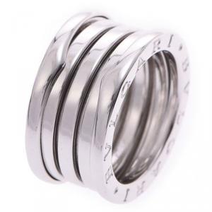Bvlgari B.Zero1 4-Band 18k White Gold Band Ring Size 52