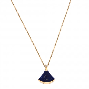 Bvlgari Divas' Dream Diamond Lapis Lazuli 18K Rose Gold Pendant Necklace