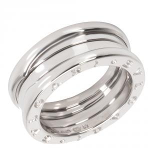 Bvlgari 18K White Gold Three Band B.zero1 Ring Size 51