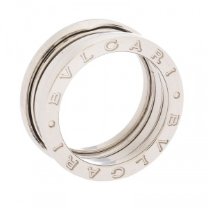 Bvlgari B.Zero1 18K White Gold 3-Band Ring Size 53