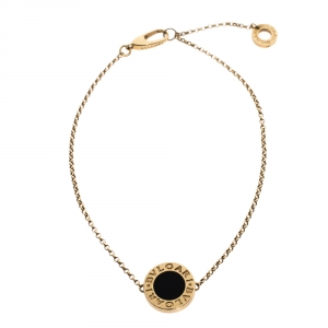 Bvlgari Onyx 18K Yellow Gold Bracelet ML