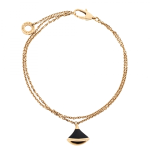 Bvlgari Divas' Dream Onyx 18K Rose Gold Bracelet SM