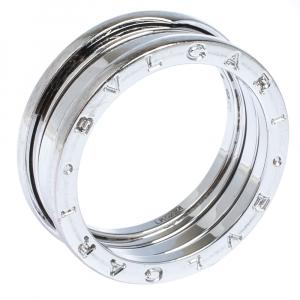 Bvlgari B.Zero1 18K White Gold 3-Band Ring Size 65