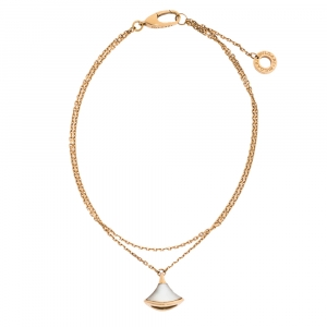 Bvlgari Divas' Dream Mother of Pearl 18K Rose Gold Chain Bracelet ML