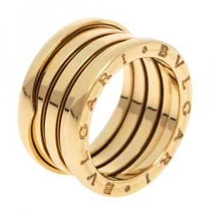 Bvlgari B.Zero1 18K Yellow Gold Four Band Ring Size 54