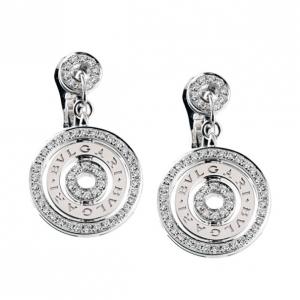 Bvlgari Diamond 18 K White Gold Astrale Earrings