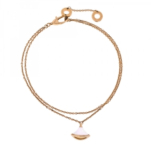 Bvlgari Divas' Dream Mother of Pearl 18K Rose Gold Chain Link Bracelet ML