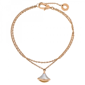 Bvlgari Divas' Dream Mother of Pearl 18K Rose Gold Chain Bracelet SM