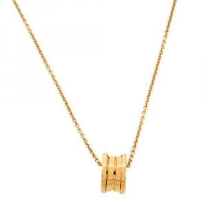 Bvlgari B.Zero1 18K Yellow Gold Small Round Pendant Necklace