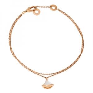 Bvlgari Divas' Dream Mother of Pearl 18K Rose Gold Charm Bracelet M/L