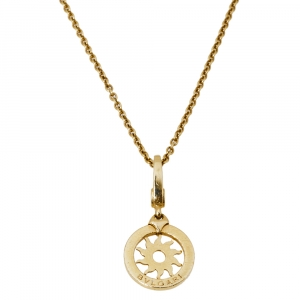 Bvlgari Tondo Sun 18K Yellow Gold Pendant Necklace