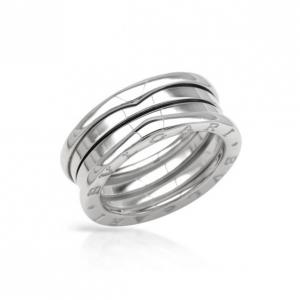 Bvlgari B.Zero1 3-Band Ring In 18KT White Gold Size 56