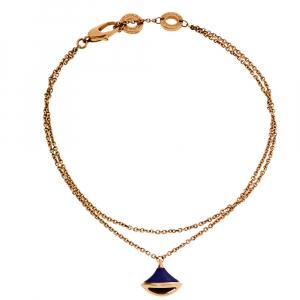 Bvlgari Divas' Dream Lapis Lazuli 18K Rose Gold Charm Bracelet