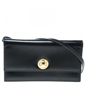 Bvlgari Black Leather Clutch Bag