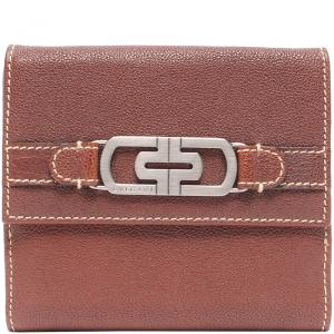 Bvlgari Dark Brown Leather Bi-fold Wallet