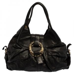 حقيبة بلغاري شاندرا جلد أسود