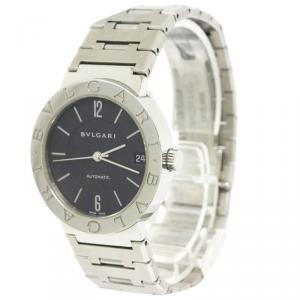 Bvlgari Black Stainless Steel Bvlgari Bvlgari Women's Wristwatch 33MM