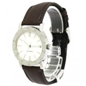 Bvlgari White Stainless Steel Bvlgari Bvlgari Women's Wristwatch 33MM