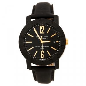 Bvlgari Black Carbongold Via Dei Condotti 10 Roma Women's Wristwatch 40 mm