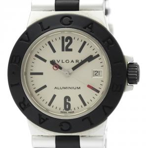 ساعة يد نسائية بلغاري AL29A مطاط ألومينيوم دياغنو فضية 29مم