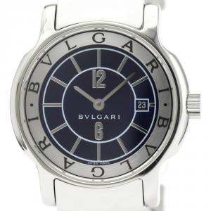 Bvlgari Black Stainless Steel Solotempo ST29S Women's Wristwatch 29MM