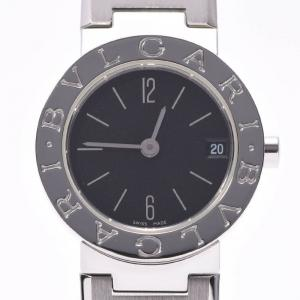 Bvlgari Black Stainless Steel Bvlgari BB23SS Women's Wristwatch 23 MM