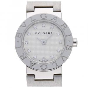 Bvlgari White Diamonds Stainless Steel BB23WSS Quartz Women's Wristwatch 23 MM