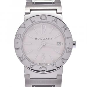 Bvlgari White Stainless Steel Bvlgari BB26SS Quartz Women's Wristwatch 26 MM