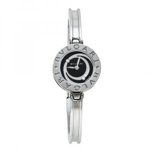 Bvlgari Black Stainless Steel Diamond B.Zero1 BZ22S Women's Wristwatch 22 mm