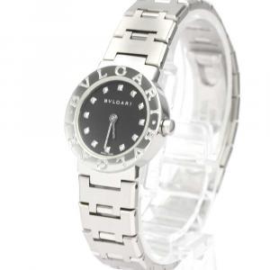 Bvlgari Black Diamonds Stainless Steel Bvlgari BB23SS Quartz Women's Wristwatch 22 MM