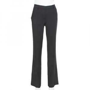 CH Carolina Herrera Black Wool Straight Leg Pants S