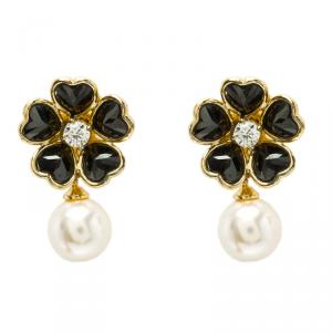 Carolina Herrera Flower Faux Pearl Earrings