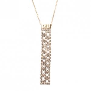 Carolina Herrera Gold-Tone Crystal Pendant Necklace
