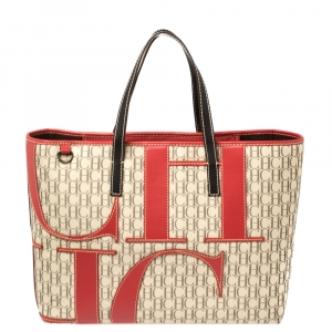 Carolina Herrera Multicolor Monogram Canvas and Leather Tote