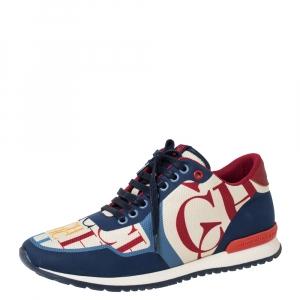 Carolina Herrera Multicolor CH Logo Canvas And Rubber Low Top Sneakers Size 40