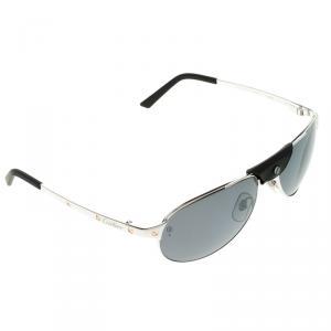 Cartier Silver Santos-Dumont Polarized Aviator Sunglasses
