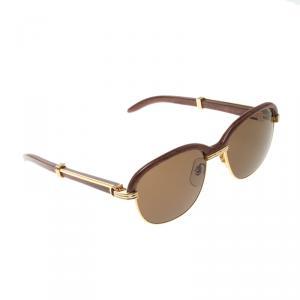 Cartier Malmaison Palisander Rosewood Gold Vintage Sunglasses