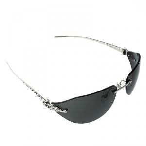 Cartier Silver/Black Panthere De Cartier Rimless Jewel Sunglasses