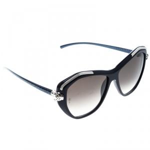 Cartier Dark Blue/Brown Gradient Panthere De Cartier Sunglasses