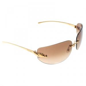 Cartier Gold/Brown Gradient Panthere de Cartier Rimless Sunglasses