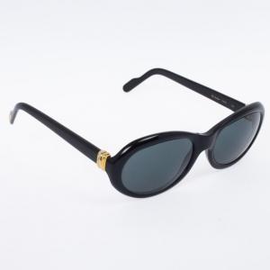 Cartier Black Oval Woman Sunglasses